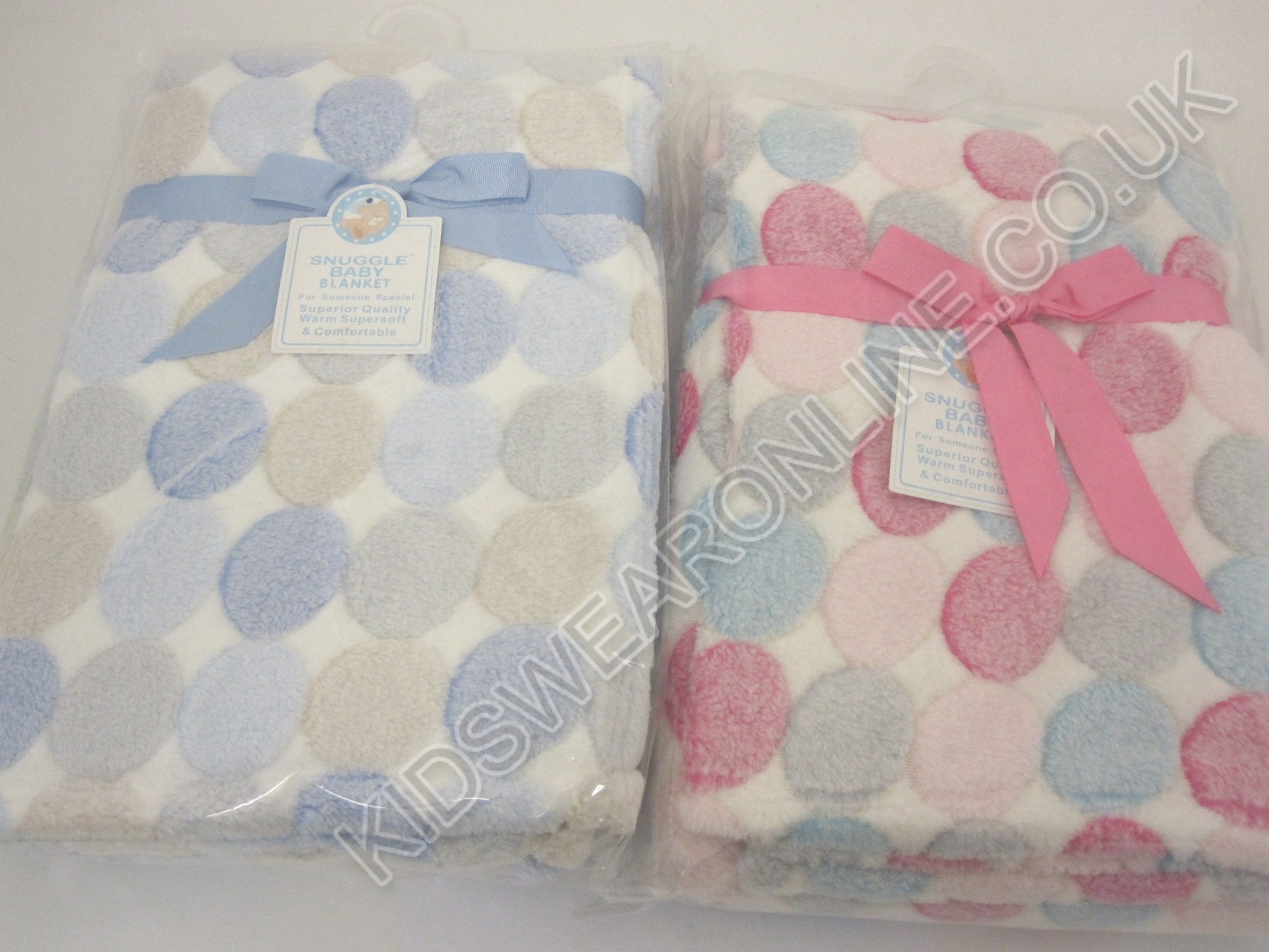Baby Cot Blanket Pink And Blue Mixed Pack Of 6