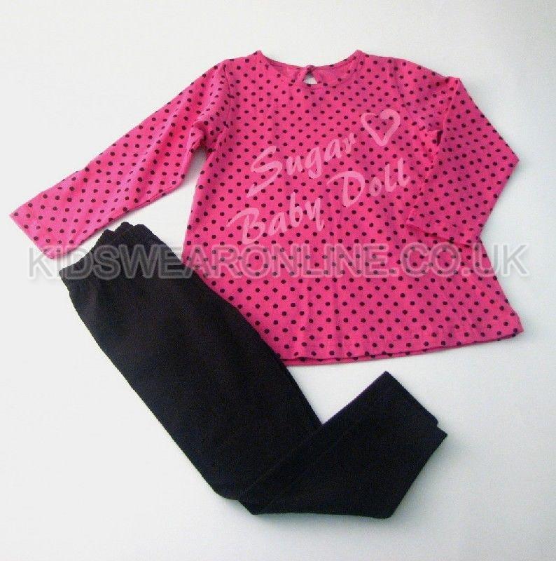 Girls Spotted Sugar Baby Doll Legging Set