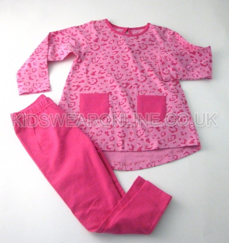 Girls Animal Print Tunic And Legging Set