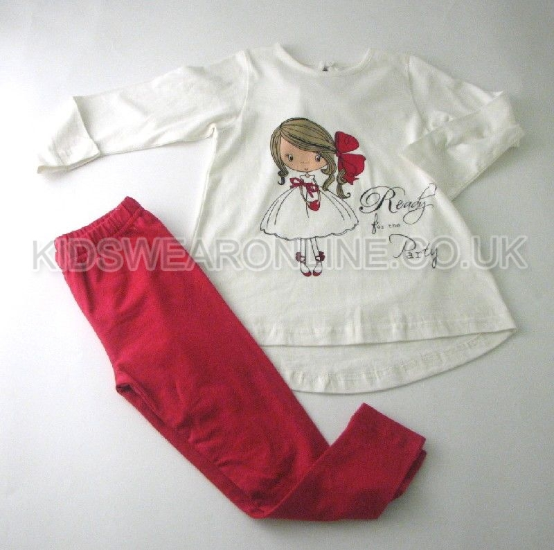 Girls Ready For The Party Tunic And Legging Set