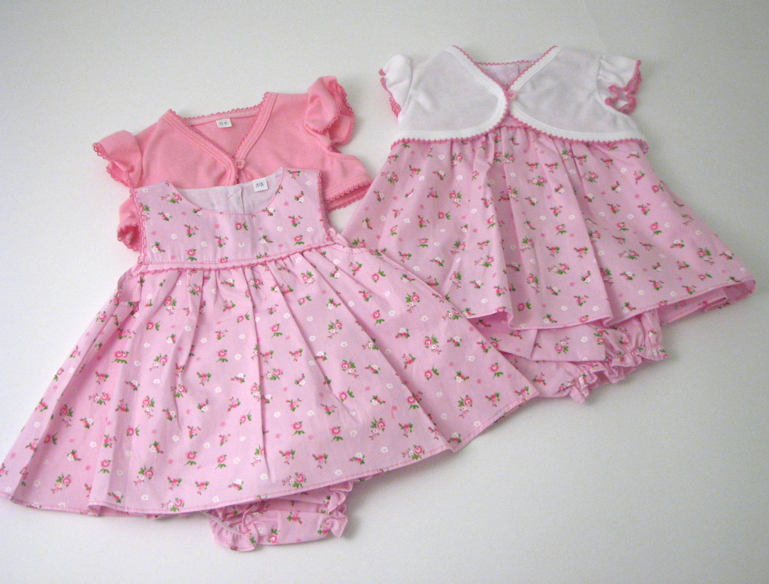 Baby Dress With Shrug Pants And Headband