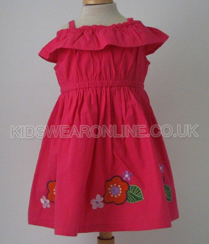 Baby Off Shoulder Dress With Embroidery
