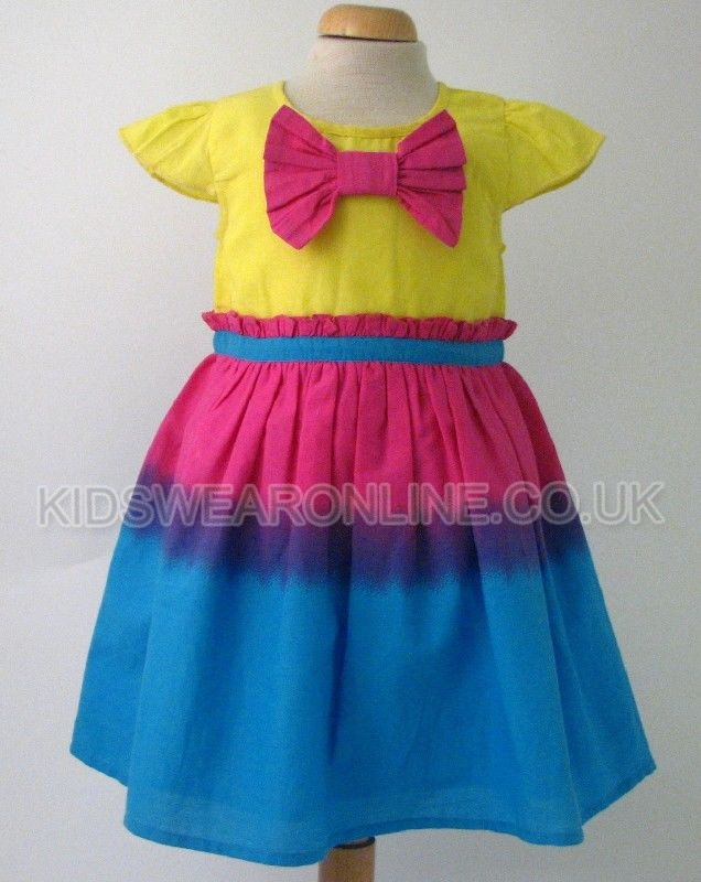 Baby Tye Dye Dress With Large Bow