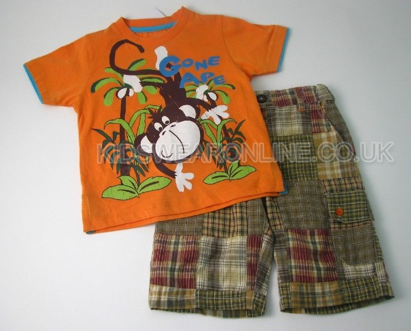 Boys Patchwork Short Set Ape