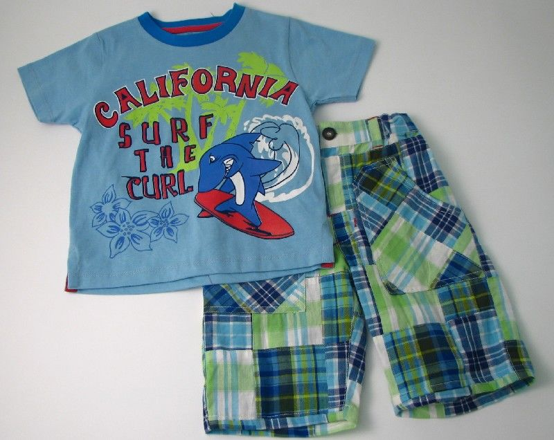 Boys Patchwork Short Set California