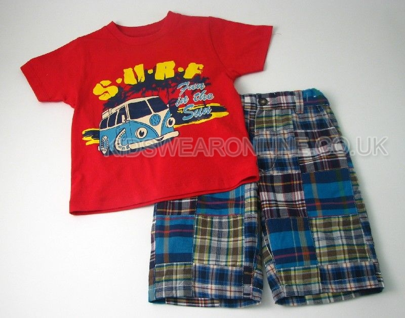 Boys Patchwork Short Set Surf