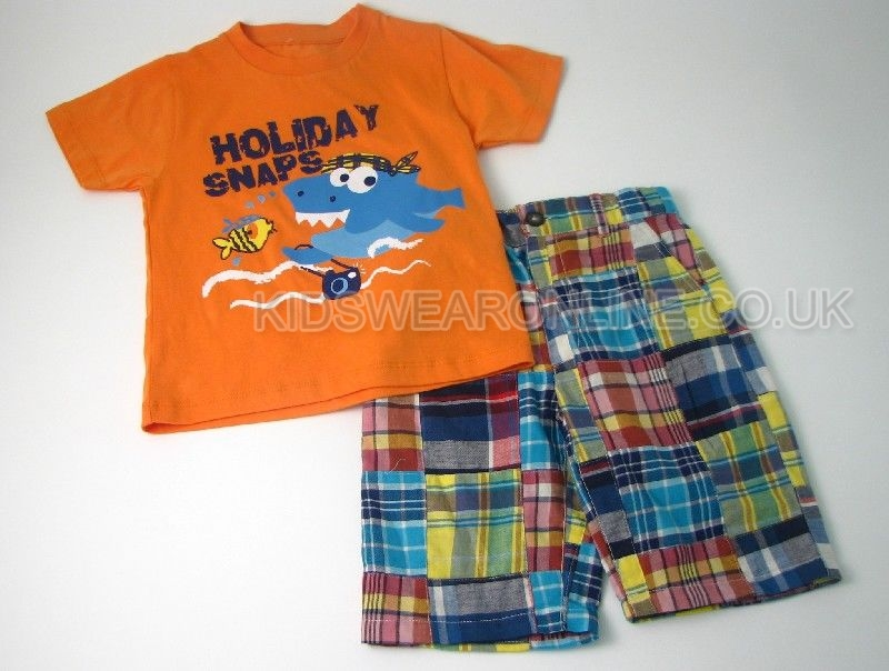 Boys Patchwork Short Set Holiday