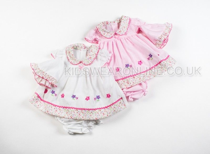 Baby 3pc Preemie Dress Set With Hat And Pants