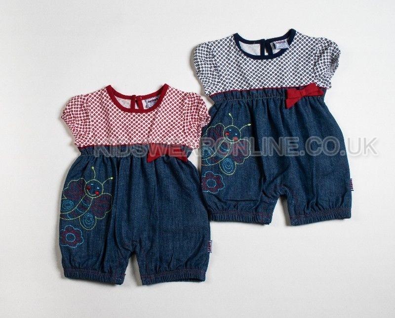 Baby Girls Denim Romper Set