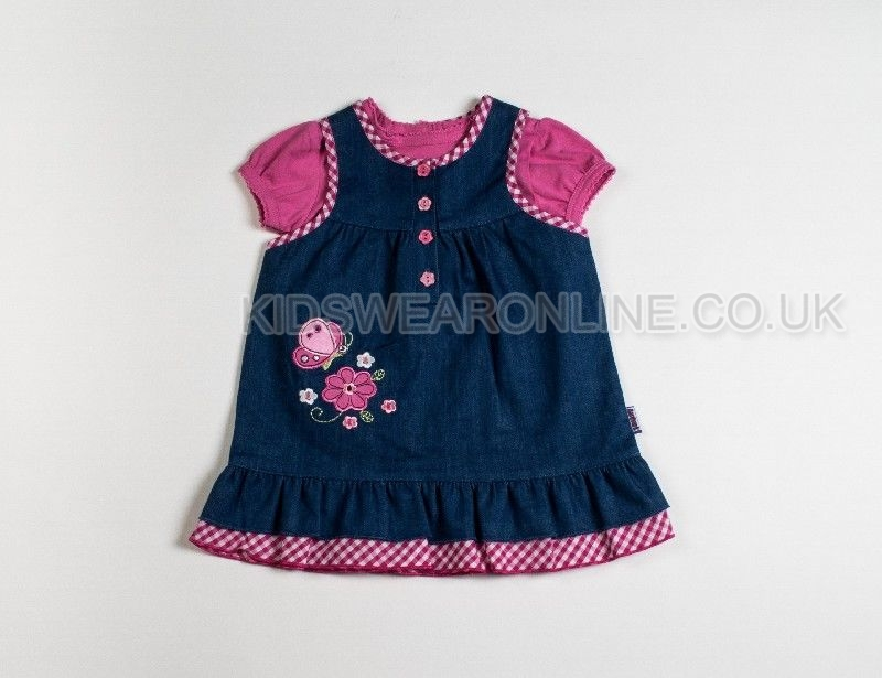 Baby Girls Denim Dress And Tshirt Set