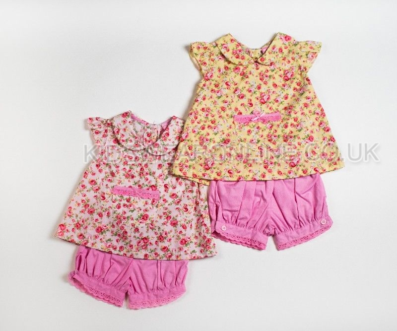Baby Top And Bloomer Shorts