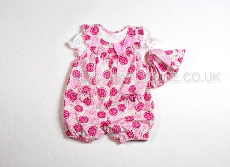 Baby 3pc Set Dungaree Tshirt And Cap Printed