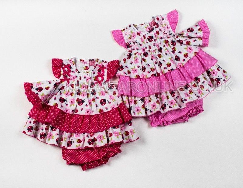 Baby Girls 3pc Set Dress Pants And Cap Ladybird