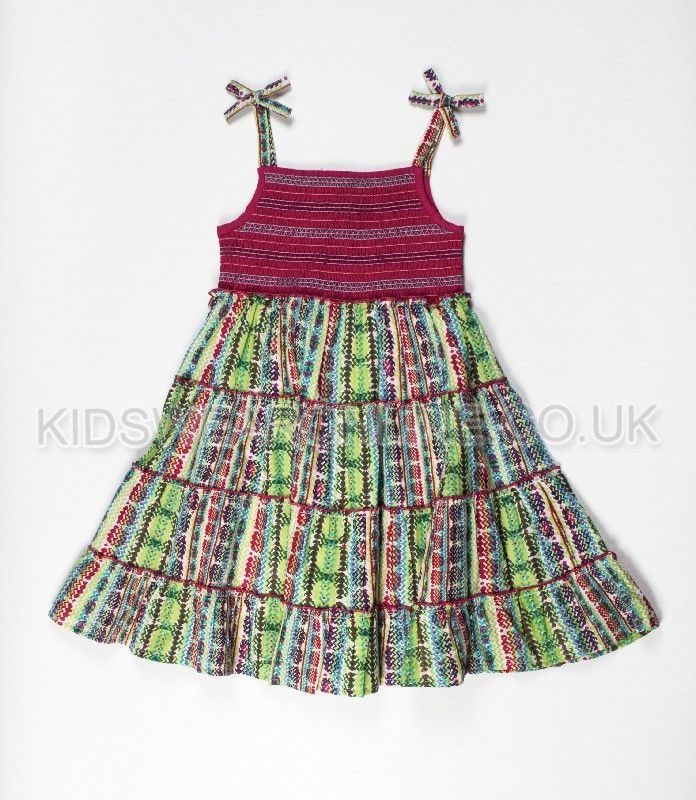 Girls Fashion Dress With Smocking