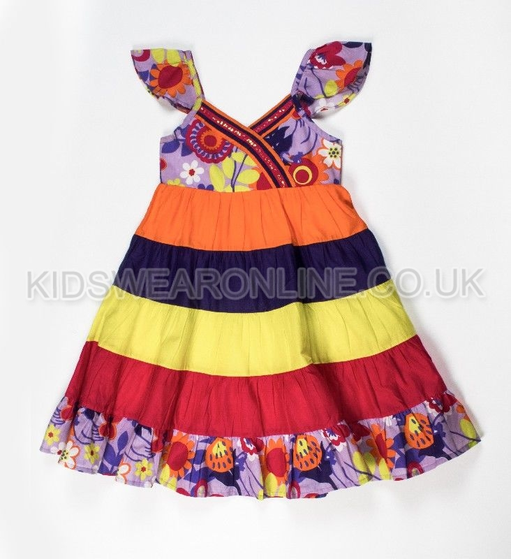 Girls Fashion Dress With Sequins And Tiers