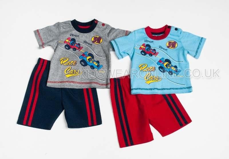 Baby Boys Race Cars Short Set