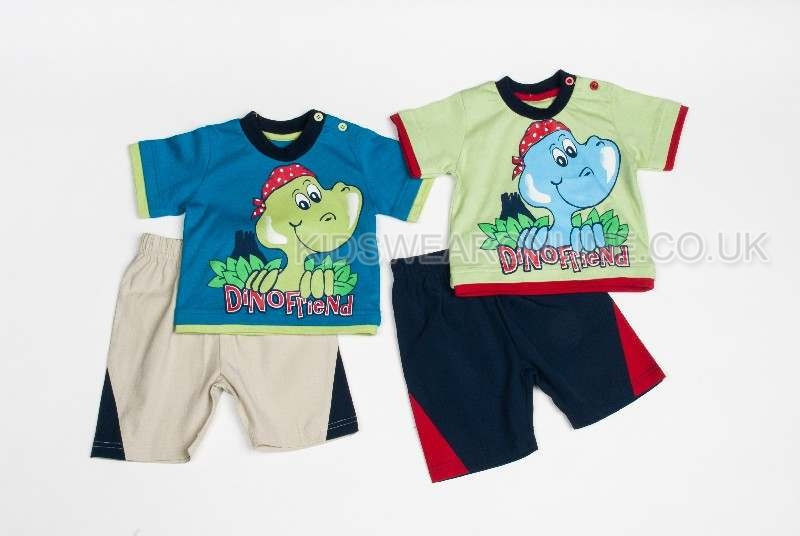 Baby Boys Dino Friends Short Set