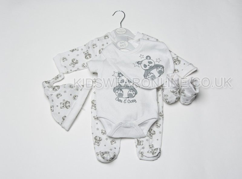 Baby 5pc Gift Set Cute And Cosy Panda