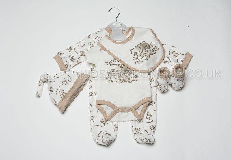 Baby 5pc Gift Set Fluffy Buddies