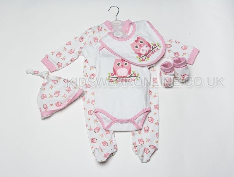 Baby 5pc Gift Set Owl