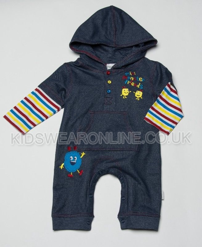 Baby Knitted Denim Look Romper Monster