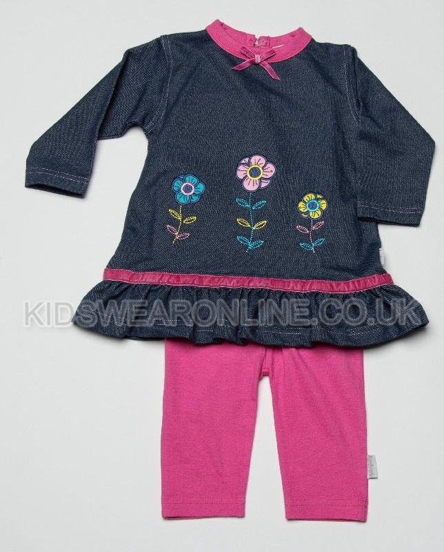 Baby Knitted Denim Look Tunic And Legging Set