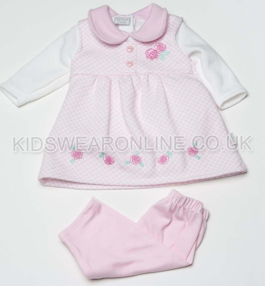 Baby Gingham Dress Tshirt And Legging