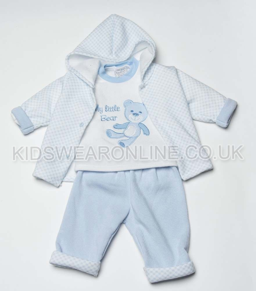 Baby Gingham Jacket, Top And Trousers