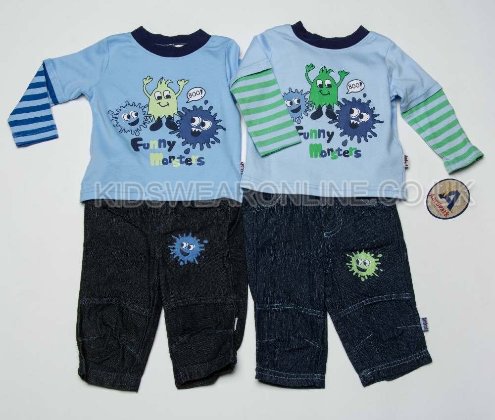 Baby Boys Top And Jeans Funny Monster