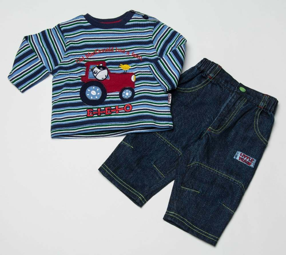 Baby Boys Top And Jeans Set