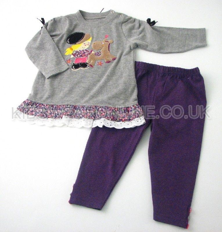 Baby Girls Tunic  Legging Set Pony