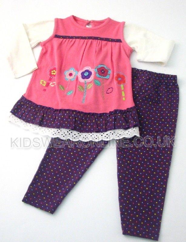 Baby Girls Legging  Tunic Set Garden