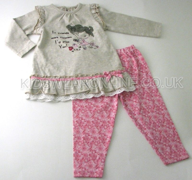 Baby Girls Tunic Legging Set Flowers