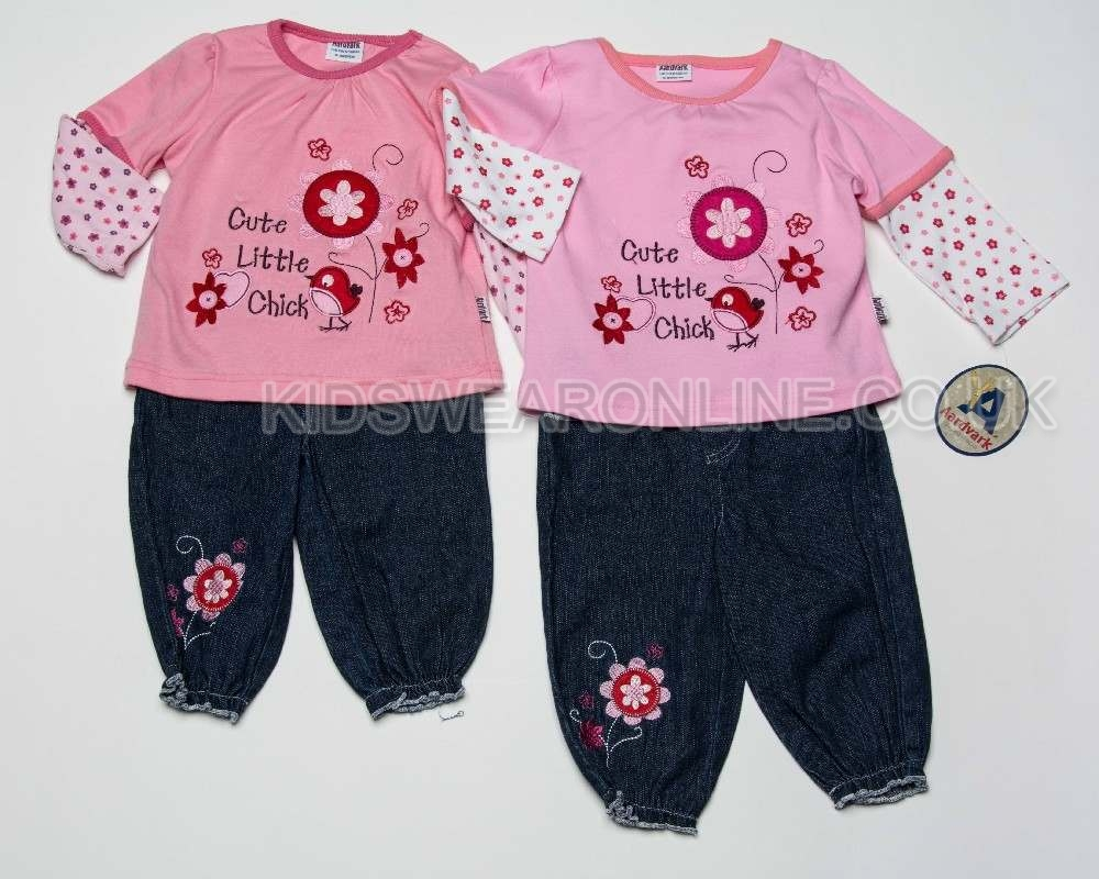 Baby Girls Jeans And Long Sleeve Top