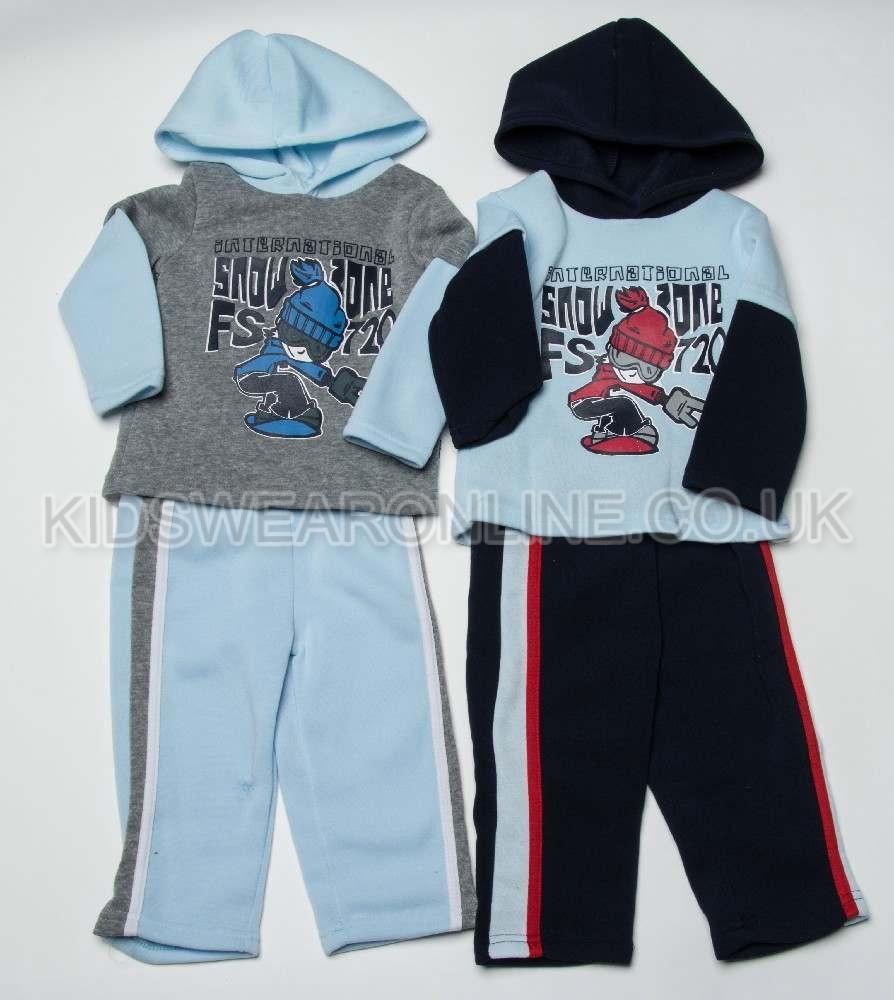 Baby Boys Hooded Jogset Snowzone
