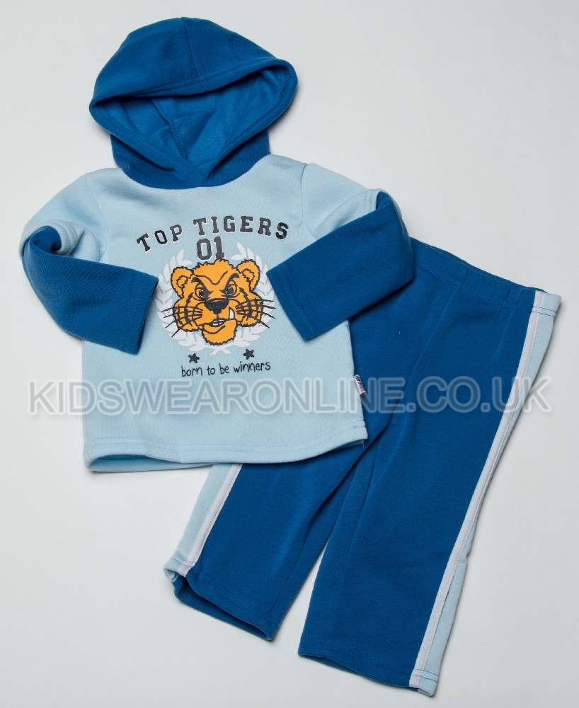 Baby Boys Hooded Jogset Tigers