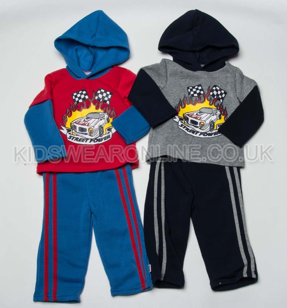 Baby Boys Hooded Jogset Street Power