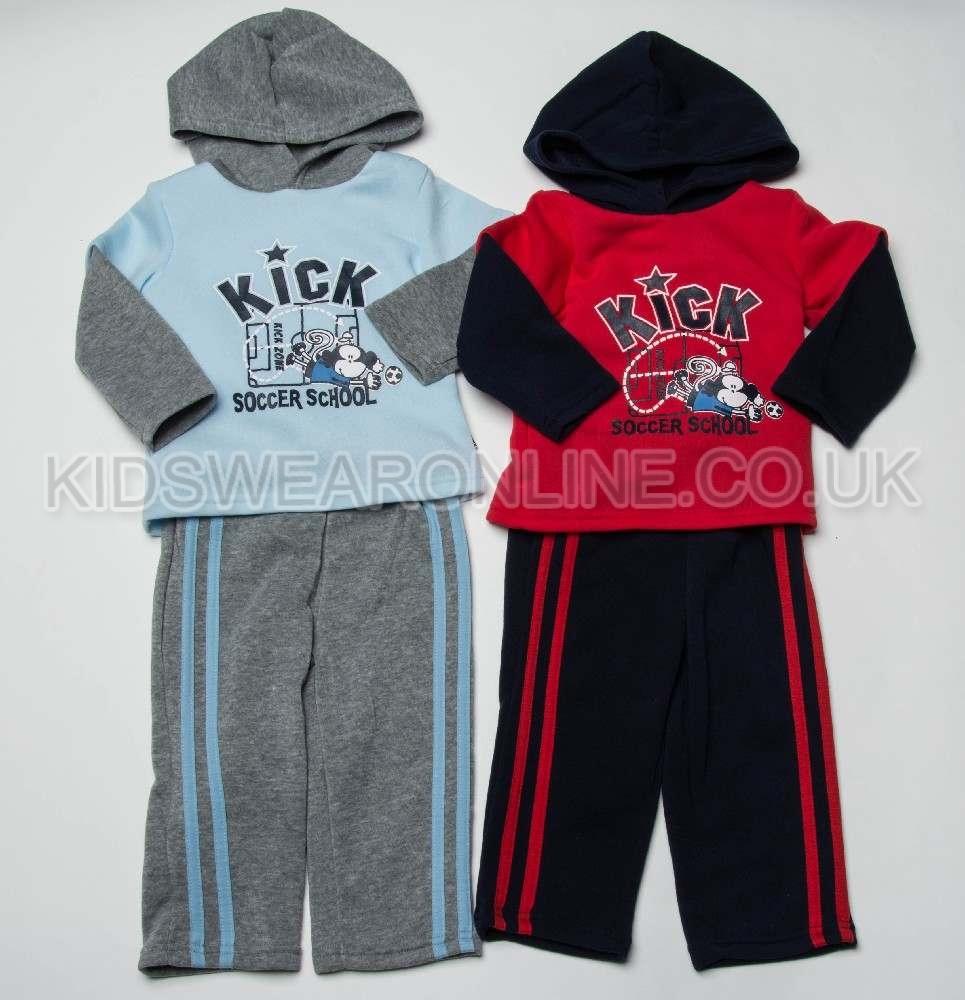 Baby Boys Hooded Jogset Kick