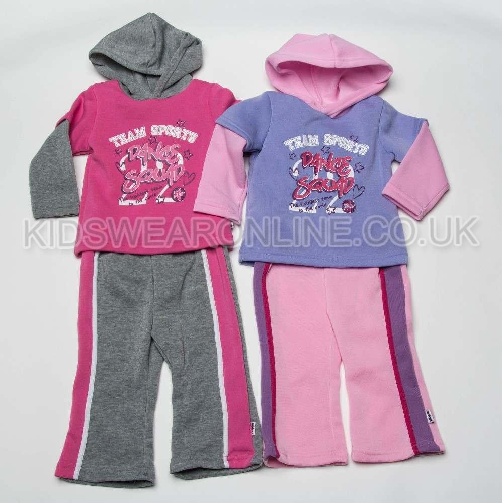 Baby Girls Hooded Jogset Team Sports