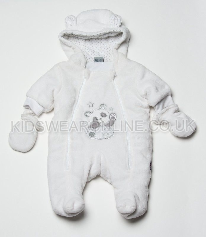 Baby Snowsuit With Hood Mitts And Feet Panda