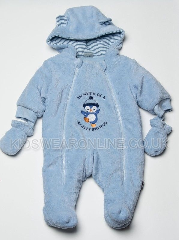 Baby Snowsuit With Hood Mitts And Feet Frosty