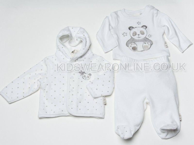 Baby Velour 3pc Set Panda