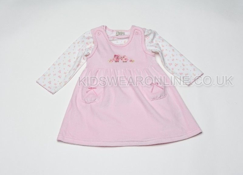 Baby Velour 2pc Dress Set Owl