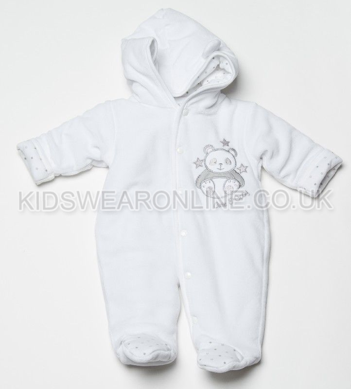Velour Padded Pramsuit Panda