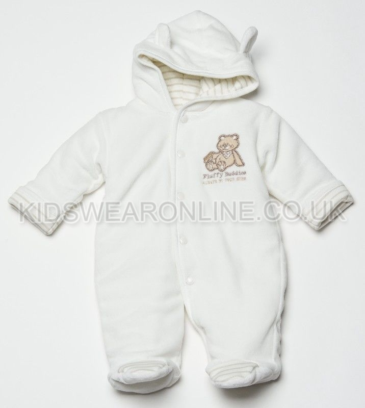 Velour Padded Pramsuit  Fluffy Buddies
