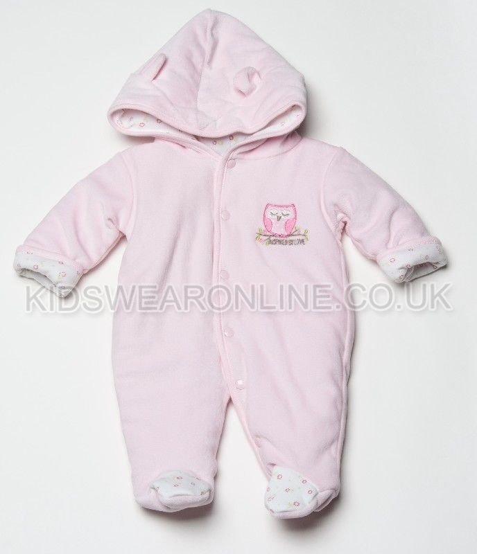 Velour Padded Pramsuit  Owl