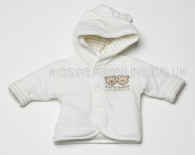 Babys First Jacket Fluffy Buddies Ecru
