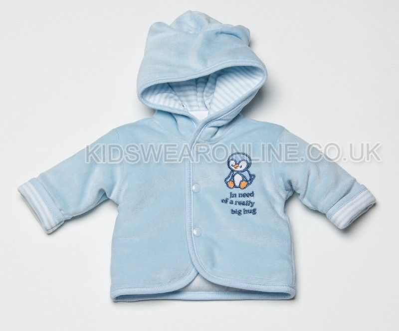 Babys First Jacket Penguin Blue