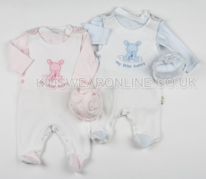 Baby Dungaree With Long Sleeve My Little Bunny