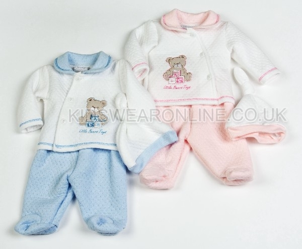 3pc Set Quilted Jacquard Top Trouser Cap Little Bears Toys